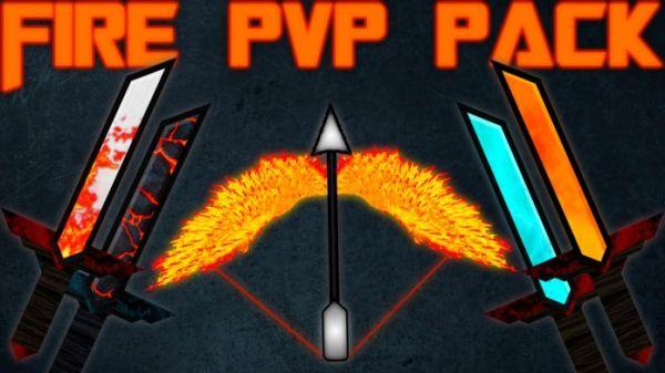 Fire PvP Texture Pack 1.8.8/1.8.6/1.8 - by JabaPacks