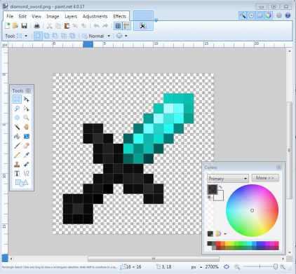 How to make your own resource pack low resolution sword