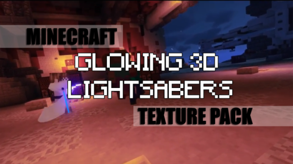 Glowing 3D Lightsabers Resource Pack 1 13/1 12 2 - Minecraft