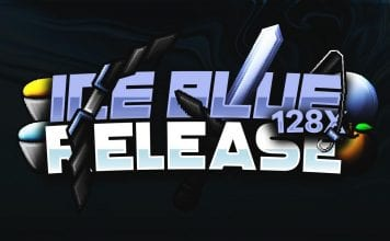 Ice Blue 128x PvP Texture Pack for Minecraft 1.8