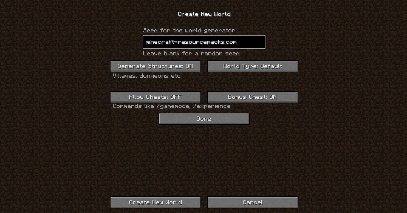How to Use Minecraft Seeds - 1