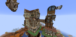 Minecraft Castle Steampunk Castle - 1