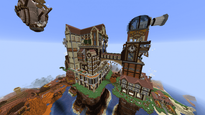 Minecraft Castle Steampunk Castle - 1