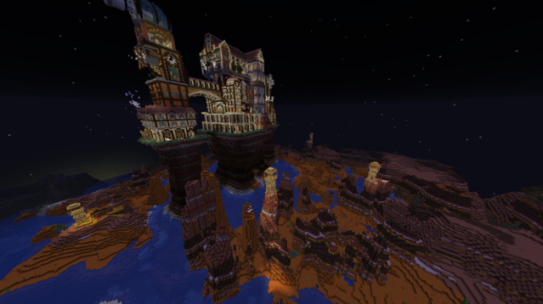 Minecraft Castle Steampunk Castle - 2