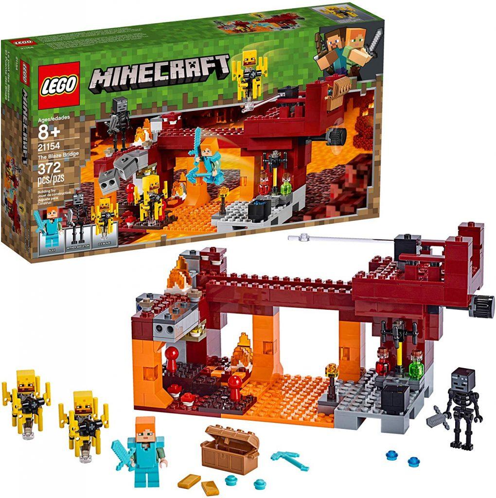 LEGO Minecraft The Blaze Bridge 21154 Building Kit - Best Minecraft Toys 2020