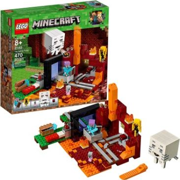 LEGO Minecraft The Nether Portal 21143 Building Kit - Best Minecraft Toys 2020