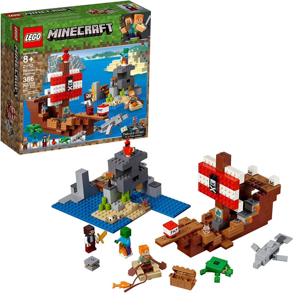LEGO Minecraft The Pirate Ship Adventure 21152 Building Kit - Best Minecraft Toys 2020